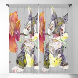 Bunny With flower Blackout Curtain