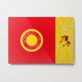 Watermelon-Lemon - Strange Fruits - Living Hell Metal Print