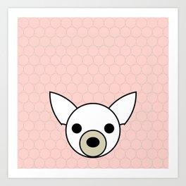 Dog Chihuahua pink Art Print