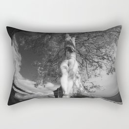 9102-LP Tree of Life Nature Goddess Earth Mother One with the Tree BW Fine Art Nude Rectangular Pillow
