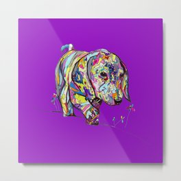 Dapple Painting with Bright Purple Background Metal Print