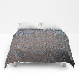 Raining Snow Water Marbling Comforters