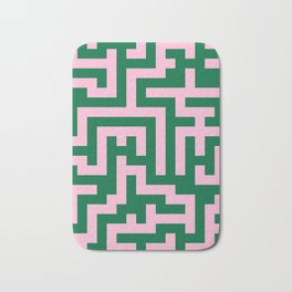 Cotton Candy Pink and Cadmium Green Labyrinth Bath Mat