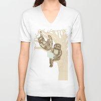 evolution V-neck T-shirts featuring Evolution by Mirisch