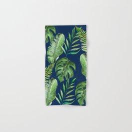 Tropical Leaves Banana Palm Tree Hand & Bath Towel