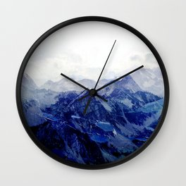 Blue Mountain 2 Wall Clock