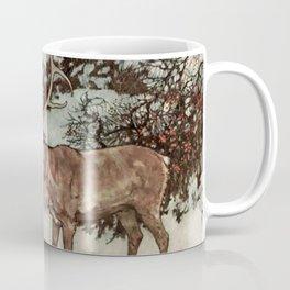 """Gerda Kisses The Reindeer"" by Edmund Dulac Coffee Mug"