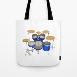 Blue Drum Kit Tote Bag