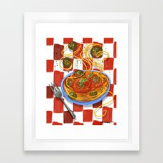 Spaghetti & Meatballs  Framed Art Print