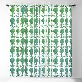 Art Deco Avalon Shell Pattern Green Blue Blackout Curtain