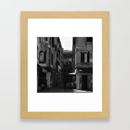 Calle Marcello b&w Framed Art Print