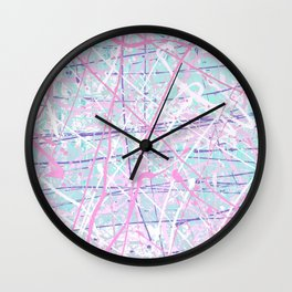 Flight of Color - pink turquoise Wall Clock