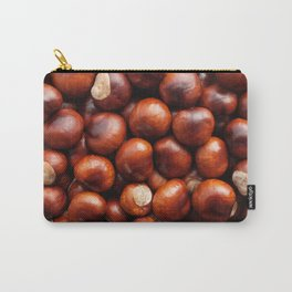 Shiny red-brown conkers in fall Carry-All Pouch
