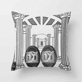 Necropolis Coins Palladium and Platinum 2 Throw Pillow
