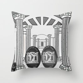 Necropolis Coins Palladium and Platinum 2 Throw Pillow