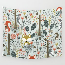 Rustic  Woodland Animals Wall Tapestry