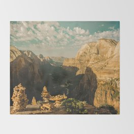 Zion Mornings - National Parks Nature Photography Throw Blanket