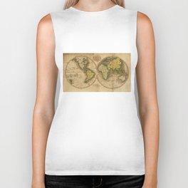Vintage Map of The World (1795) 2 Biker Tank
