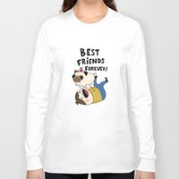 pug Long Sleeve T-shirts featuring PUG by Jarvis Glasses