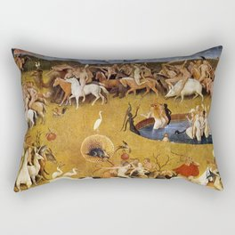 An insight into Heaven - Hieronymus Bosch Rectangular Pillow