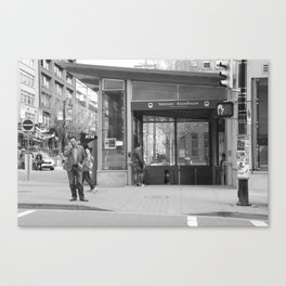 Across from Yaletown Roundhouse Skytrain station Canvas Print