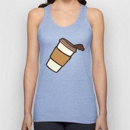 Take it Away Coffee Pattern Unisex Tank Top