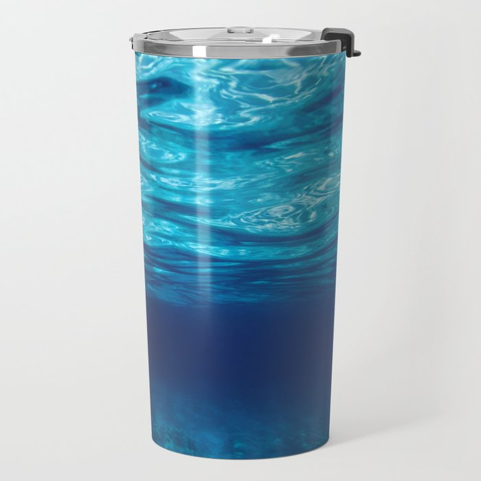 Blue Underwater Travel Mug