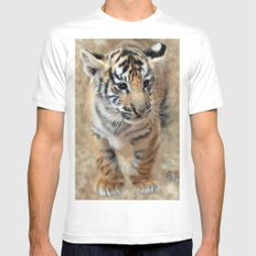 Tiger cub emerging MEDIUM Mens Fitted Tee White
