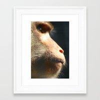ape Framed Art Prints featuring Ape by Ben bad badger