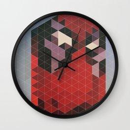 Geometric Deadpool Wall Clock