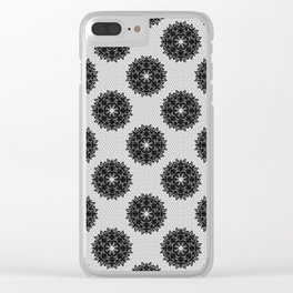 Lace pattern Clear iPhone Case