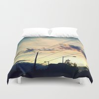 washington dc Duvet Covers featuring Petworth at Sunset (Washington, DC) by Carsick T-Rex