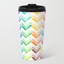 Colourful pattern Metal Travel Mug