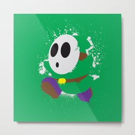 Green Shy Guy Splattery Design Metal Print