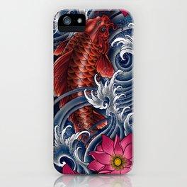 Koi and Lotus iPhone Case