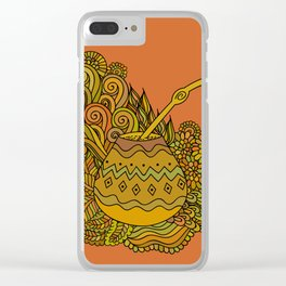Yerba Mate In The Gourd Clear iPhone Case