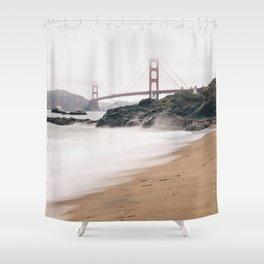 Baker beach Shower Curtain