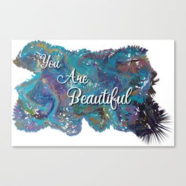 You are beautiful colorful design Canvas Print