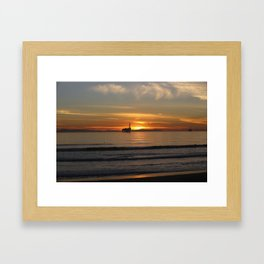 California Sunset  Framed Art Print