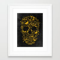 Framed Art Prints featuring Skull Butterfly 2 by Francisco Valle