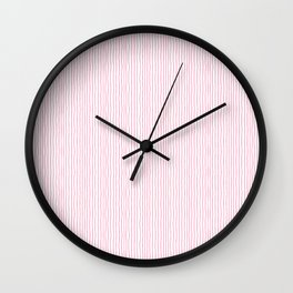 Pink white hand drawn modern simple striped pattern Wall Clock