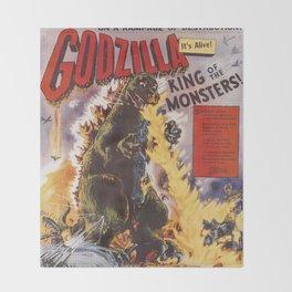 eefcf244741 Godzilla rampage Throw Blanket
