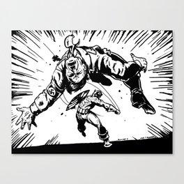 Cap Punches Hitler Canvas Print