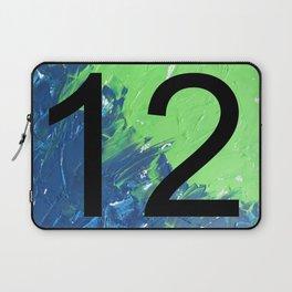 Blue & Green, 12, No. 2 Laptop Sleeve