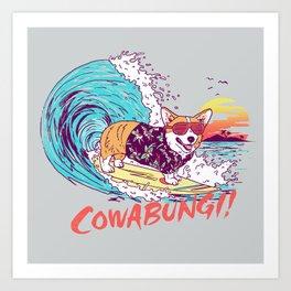 Cowabungi! Art Print