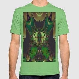 Abstract Maroon Fractal  T-shirt