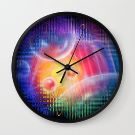 Abstract in perfection 113 - Space and time Wall Clock