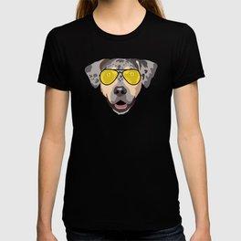 Catahoula Leopard Dog with sunglasses T-shirt