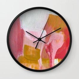 ROSE GARDEN SUNSET Wall Clock