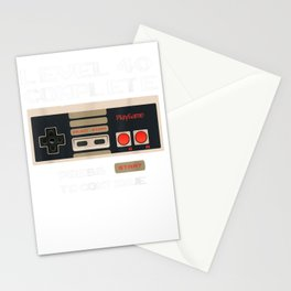 Level 40 Complete 1979 40th Birthday Gift T-Shirt Stationery Cards